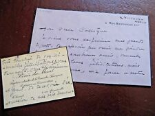 RENEE DU MINIL 2 X Autographe Signé 1933 ACTRICE COMEDIE-FRANCAISE Au MIME WAGUE
