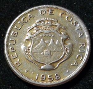 1958 Costa Rica 10 Centimos Nice Coin