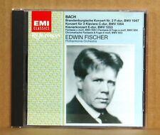 CD Edwin Fischer Bach Brandenburgische Konzert 2 Klavierkonzert... POL EMI 1993