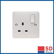 BRAND NEW - Hager Sollysta White 1 Gang DP Switchsocket 13A x2 - Free Postage