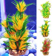 Artificial Aquarium Fish Tank Ornament Plastic Water Grass Plant Decor