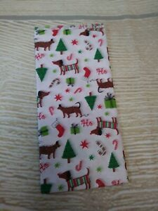 """New! Dachshund Dog Gift Tissue Paper 5 Sheets - 20x20""""  Christmas Tree Holiday"""