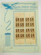 Scott # 878 Jane Addams Plate block (22560) block All Four Corners 1940 10c FVF