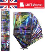 100PCS (80EX + 20 GX) POKEMON cards TCG Flash HOLO Trading cards deck set