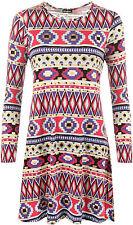 Geometrische Langarm Damenkleider