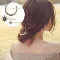 Hair Pins Crystal Star Moon Alloy Hair Accessories For Women Girls Jewelry