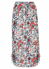 Exotic floral romance beach summer holiday  Maxi skirt 22 + drawstring + pockets