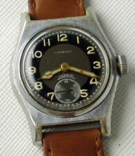 MILITARY SWISS LABHART WATCH CAL FHF 150 INCABLOC 17 JEWELS CHROMED CASE 30 MM
