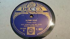 NAT TEMPLE AND HIS CLUB ROYAL ORCHESTRA BURMA ROAD & NATTERING DECCA F8611