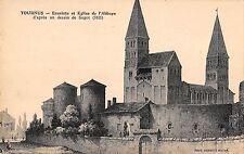 BF10339 tournus enciente et eglise de l abbaye d apres france      France