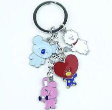 New!! K-POP BTS  Bangtan Boys Metal Keychain BT21 Kpop Tata heart RJ Koya Koala