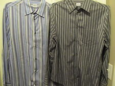 Men's Armani Collezioni Long Sleeve, Size LARGE Lot of 2 Striped