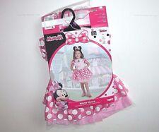 NWT NEW Halloween Costume Disney Minnie Mouse 2T Pink Dress