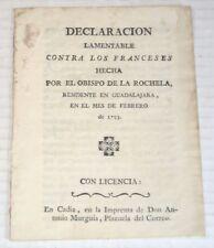 1793 BISHOP DE LA ROCHELLE'S Denunciation of French over execution of LOUIS XVI