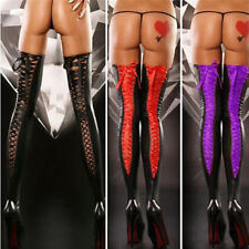 US Leather Stockings Free Size Women Sexy Lace Thigh-high Comfortable Long Socks
