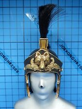 ACI 1:6 Roman General Black Armour Set Figure - Embossed helmet w/feather mane