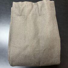 Single Restoration Hardware Basket Weave Linen Curtain 96X50 Charcoal Brown