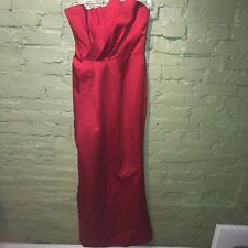 Vera Wang White label red strapless gown wedding guest bridesmaid 6