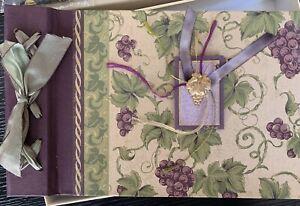 NIB  🍇 Toccata Scrapbook Photo Keepsake Album -Fine Paper - Grapes 🍇