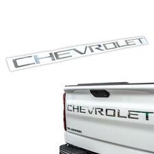 2019-20 Silverado 1500 2500 3500 Chrome CHEVROLET Letters Tailgate Insert Emblem