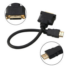 HDMI Male To DVI-I (24+5) Female Cable Video Adapter Cord For HDTV PC LCD DVD