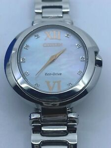 CITIZEN Capella Diamond White Mother of Pearl Dial Ladies Watch EX1510-59D