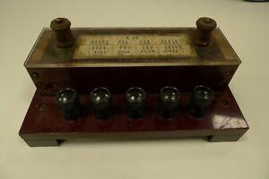 Resistors Mounted In Wooden Box Eureka Vintage Lab Electronic Apparatus Physics