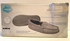 Restor Style Mens Slippers Gray Small 6-7 New