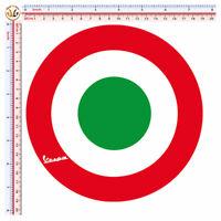 Bandiera Italia tondo adesivi vespa italian flag Sticker pvc cropped 1 pz.