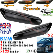 For BMW E46 E60 E82 2x Dynamic LED Side Marker Repeater Indicator Lights Flowing