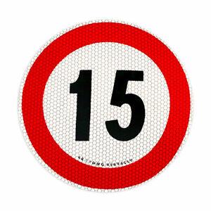 Contrassegno Limite Velocità 15 km/h Omologato EU