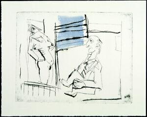 """DDR. """"betrachtung"""", 1986. Aquatinta Wolfgang KE LEHMANN (*1950 D), handsigniert"""