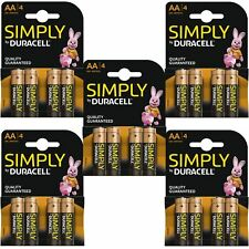 20 x DURACELL SIMPLY AA 1.5 V Power Battery Pack LR6 MN1500 alcaline lunga durata