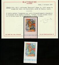 1976 BOCCIONI BDF NON DENTELLATO E SENZA LA STAMPA DEL NERO CERT.RAYBAUDI