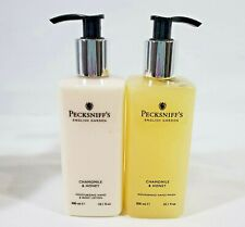 GC Pecksniff of England Chamomile and Honey Hand Wash and Body Lotion 10.1oz NEW