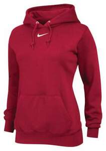 NWT NIKE WOMEN'S TEAM CLUB FLEECE HOODIE (TEAM RED) 598575-657. $45