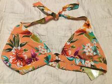 Womens Islander Multi Color Floral Swimsuit Bikini Top Size 18, NWT