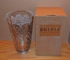 EGIZIA ARGENTO ITALIAN HAND CRAFTED LEAD GLASS VASE NEW IN BOX MINT