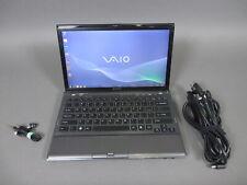 """Sony Vaio VPCZ1 13.1"""" Laptop i7-620M 2.66GHz 512GB SSD 8GB Win 7 1600x900"""