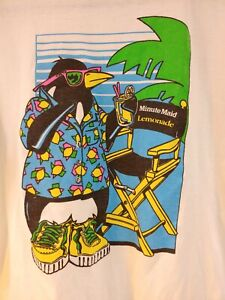 VTG Minute Maid Lemonade Logo T Shirt Promotional XL Made in the USA L33