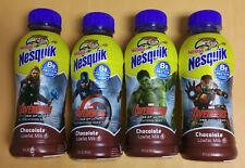 4 Marvel Avengers Empty Nesquik Chocolate Milk: Thor,Capt America,Hulk&Ironman.