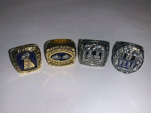 1986-2011 New York Giants Championship Replica Super Bowl Ring Set of 4