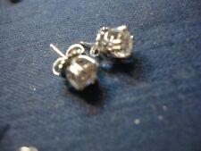 Silver Gem Stone Earrings Grandmas Estate 925 Sterling