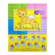 PIN THE BOTTLE ON THE BABY Baby Shower Game