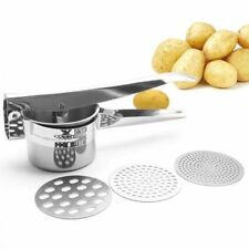 Home Kitchen Stainless Steel Mash Potato Ricer Masher Fruit Juicer Press Tool AU