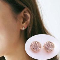Fashion Women Lady Elegant Earring Circle Crystal Rhinestone Ear Stud Earrings