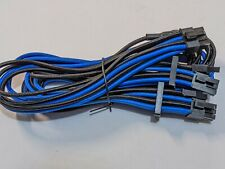 NEW 8 Pin Plug to (x2) 6+2 Pin PCIe Type 4 Modular Corsair Power Supply Cable