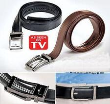 Fashion Black Comfort Belt Click Zip Tie Leather Belt For Men Good Gift