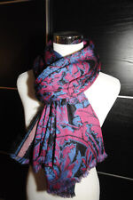 NEW $495 LIBERTY OF LONDON Floral Print Wool Silk Mohair Shawl Long Scarf