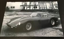 Rare Autographe Photo Engineer Giotto Bizzarrini Ferrari 250 GTO Signed Not Copy